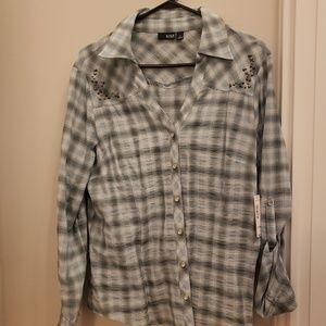 Ana decorative flannel button up